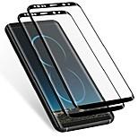 abordables -Galaxy S8 Plus Protecteur D'écran (Lot de 2) Anti-Rayures HD Clair, Coque de Protection en Verre Trempé Courbé 3D pour Samsung Galaxy S8 Plus (Pas Galaxy S8) (Noir)