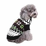 economico -vestiti classici di abbigliamento per cani da compagnia natalizi, maglione a collo alto caldo per cani invernali per cucciolo (xxl, nero)