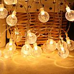 economico -scatola di batteria a forma di palla a bolla a led illuminazione calda catena bianca festa di natale festival luci decorative per interni da esterno