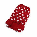 abordables -vêtements pour animaux de compagnie sisave, chiot en peluche chien flocon de neige de Noël automne hiver chandail chaud (grand, rouge # 6)
