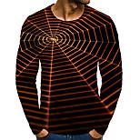 economico -Per uomo maglietta Stampa 3D Pop art 3D Taglie forti Con stampe Manica lunga Quotidiano Top Elegante Esagerato Nero