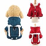 economico -costume per animali domestici vestiti per cani abbigliamento caldo per animali domestici abiti per cani carini vestiti invernali per animali domestici felpa con cappuccio in velluto a coste cappotto