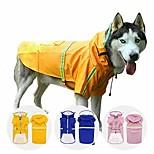 abordables -imperméable pour chien de compagnie | veste poncho pour chien avec bande réfléchissante | vêtements imperméables ajustables pour animaux de compagnie | imperméable léger à capuche pour chiens de