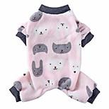 economico -pigiama di cane in pile per cani di piccola media ragazza ragazzo cane tutina camicie da cane inverno caldo maglione del cane pet vestiti del cucciolo cane natale pigiama per yorkie chihuahua