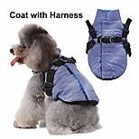 economico -cappotto in pile invernale cucciolo con anello al guinzaglio, giacche calde cani gatti con imbracatura