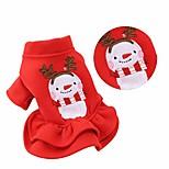 economico -cane vestito di natale - natale pet costume gonna vestiti per cani inverno caldo cane vestito da principessa vestiti bassotto chihuahua corgi - xs rosso