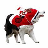 abordables -royal sage courant santa costumes pour animaux de compagnie de noël, costume de chien de père noël vêtements pour chiens fête habiller des vêtements pour petits grands chiens vêtements pour chats