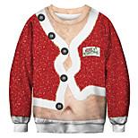 economico -felpa da uomo brutta di natale con stampa pancia grande da donna divertente novità pullover di felpa di Babbo Natale - xxl