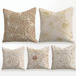 economico -federa per cuscino 5 pezzi lino morbido decorativo quadrato copriletto federa federa per divano camera da letto 45 x 45 cm (18 x 18 pollici) motivo floreale lavabile in lavatrice di qualità superiore
