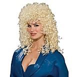 abordables -Perruque blonde bouclée des années 80
