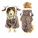 economico -halloween cane squalo costume abiti per cane grande inverno pile cucciolo giacca cappotto felpa con cappuccio vestiti divertenti per cani golden retriever (5xl, giraffa marrone)