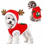 abordables -costume de noël pour chien, sweat à capuche arbre de noël pour chien, costume de père noël chaud pour chiens et chats, chien (xl)