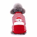 economico -natale pet cane gatto moda cappotti abiti da compagnia confortevole vestito da festival felpa con cappuccio a righe di santa inverno