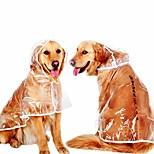 economico -impermeabile per cani giacca antipioggia per animali domestici vestiti impermeabili con cappuccio trasparenti per cuccioli indumenti impermeabili per animali trasparenti bordo arancione xs