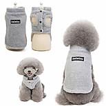 economico -pet doggy inverno agnello cashmere cappotto caldo esterno in pile cane fodera in pile pullover giacca gilet per cani di piccola taglia (s, grigio)