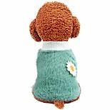 economico -vestiti per animali domestici, maglione per cani con decorazioni floreali a margherita, felpe calde e morbide per cuccioli, costume per cani di piccola taglia, cani medi (xs: blu)