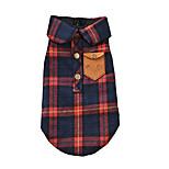 economico -piccoli vestiti per cani da compagnia, cucciolo di animale domestico autunno caldo inghilterra plaid doppio strato di flanella camicia a quadri in cotone spesso imbottito vestiti invernali gatto