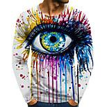 abordables -Homme T-shirt Impression 3D Graphique 3D Grandes Tailles Imprimé Manches Longues Quotidien Hauts Arc-en-ciel
