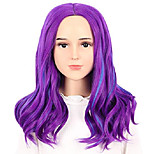 abordables -enfants enfant longue vague violet et bleu costume perruque halloween cosplay anime perruque