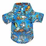 economico -cane camicia hawaiana per cani vacanza per animali domestici abbigliamento polo magliette da campo abbigliamento estivo medio piccolo, xl, blu