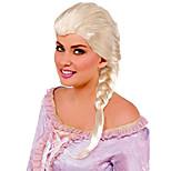 abordables -perruque princesse tressée pour femme, blonde, taille unique