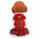 economico -maglione per cani di natale dolcevita per animali domestici pullover gonna scozzese autunno inverno vestito da principessa per cani