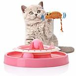 abordables -Jouet interactif pour chat jouets de plaque tournante pour chat rouleau turbo piste avec ressort souris et balles tour piste jouet chat jouets fournitures pour animaux de compagnie pour chaton minou