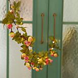 abordables -1x 2.2m 20leds Rose Fleur LED Guirlande Lumineuse AA Alimenté Par Batterie De Mariage Événement De La Saint-Valentin Fête De Noël Guirlande Décor Luminaria Éclairage Blanc Chaud