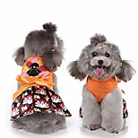 abordables -Thanksgiving dog dress turkey pet jupe bowtie cats costume pour chats chiot petits chiens moyens