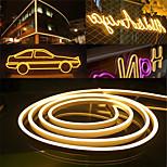 economico -luci di striscia led neon flex 6mm luce al neon stretta 12v striscia led impermeabile 5m fai da te tagliabile striscia di luce al neon led per interni esterni decorazione domestica e adattatore dc12v e kit interruttore dimmer tattile