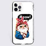 economico -Gatto Animali Astuccio Per Mela iPhone 12 iPhone 11 iPhone 12 Pro Max Design unico Custodia protettiva Resistente agli urti Per retro TPU