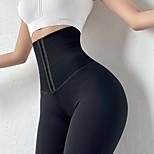 economico -Per donna Vita alta Pantaloni da yoga Calze / Collant / Cosciali Fasciante in vita Sollevamento dei glutei Traspirante Nero Grigio Nylon Yoga Fitness Allenamento in palestra Inverno Gli sport