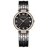 economico -mini focus moda donna giappone movimento al quarzo orologio da polso di lusso per donna donna (nero)