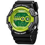 economico -orologio digitale cinturino in plastica multifunzionale impermeabile led 12/24 ore orologio da polso elettronico sportivo (verde)