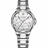 economico -orologi di cristallo libellula per le donne orologi automatici per il suo calendario ragazze luminose orologi meccanici cinturino in ceramica