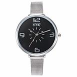 economico -ccq casual quarzo cinturino in acciaio inossidabile nuovo cinturino orologio analogico da polso (nero)