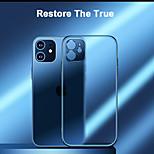 abordables -téléphone Coque Pour Apple Coque Arriere iPhone 12 Pro Max 11 SE 2020 X XR XS Max Plaqué Dépoli Clair Transparente TPU