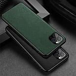 abordables -téléphone Coque Pour Apple Coque Arriere iPhone 12 Pro Max 11 SE 2020 X XR XS Max Antichoc Couleur Pleine Cuir véritable
