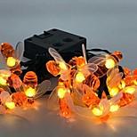abordables -guirlande lumineuse led 5m 20 leds extérieur étanche fête intérieure vacances 2v