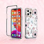abordables -téléphone Coque Pour Apple Coque Intégrale iPhone 12 Pro Max 11 SE 2020 X XR XS Max 8 7 Antichoc Motif Fleur TPU