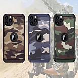 abordables -téléphone Coque Pour Apple Coque Arriere iPhone 12 Pro Max 11 SE 2020 X XR XS Max 8 7 Antichoc Camouflage TPU PC