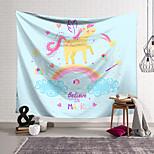 abordables -Tapisserie murale art décor couverture rideau suspendu maison chambre salon décoration polyester mignon licorne