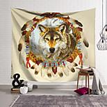 abordables -Tapisserie murale art décor couverture rideau suspendu maison chambre salon décoration polyester neige loup