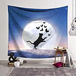 abordables -Tapisserie murale art décor couverture rideau suspendu maison chambre salon décoration polyester chat papillon ciel étoilé