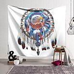 abordables -Tapisserie murale art décor couverture rideau suspendu maison chambre salon décoration polyester capteur de rêves tête d'aigle
