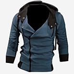 economico -giacca con cappuccio manica lunga slim fit da uomo grigio xxl