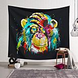 abordables -Tapisserie murale art décor couverture rideau suspendu maison chambre salon décoration polyester coloré singe couvrant le visage