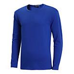 abordables -Homme Manches Longues Retour Hauts Athleisure Respirable Grand et grand Bleu Clair Bleu marine Rose Dragée