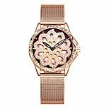 economico -orologi: orologio al quarzo minimalista fortunato quadrifoglio quadrante rotante a 360 gradi, design tridimensionale cavo per ragazza regolabile, giallo