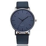 economico -orologio da polso al quarzo analogico con quadrante grande rotondo unisex orologi da polso modello vintage moda blu